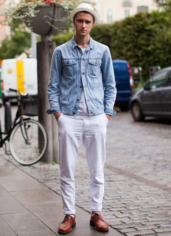 men-wearing-a-pair-of-white-jeans-street-style | Gentleman ...
