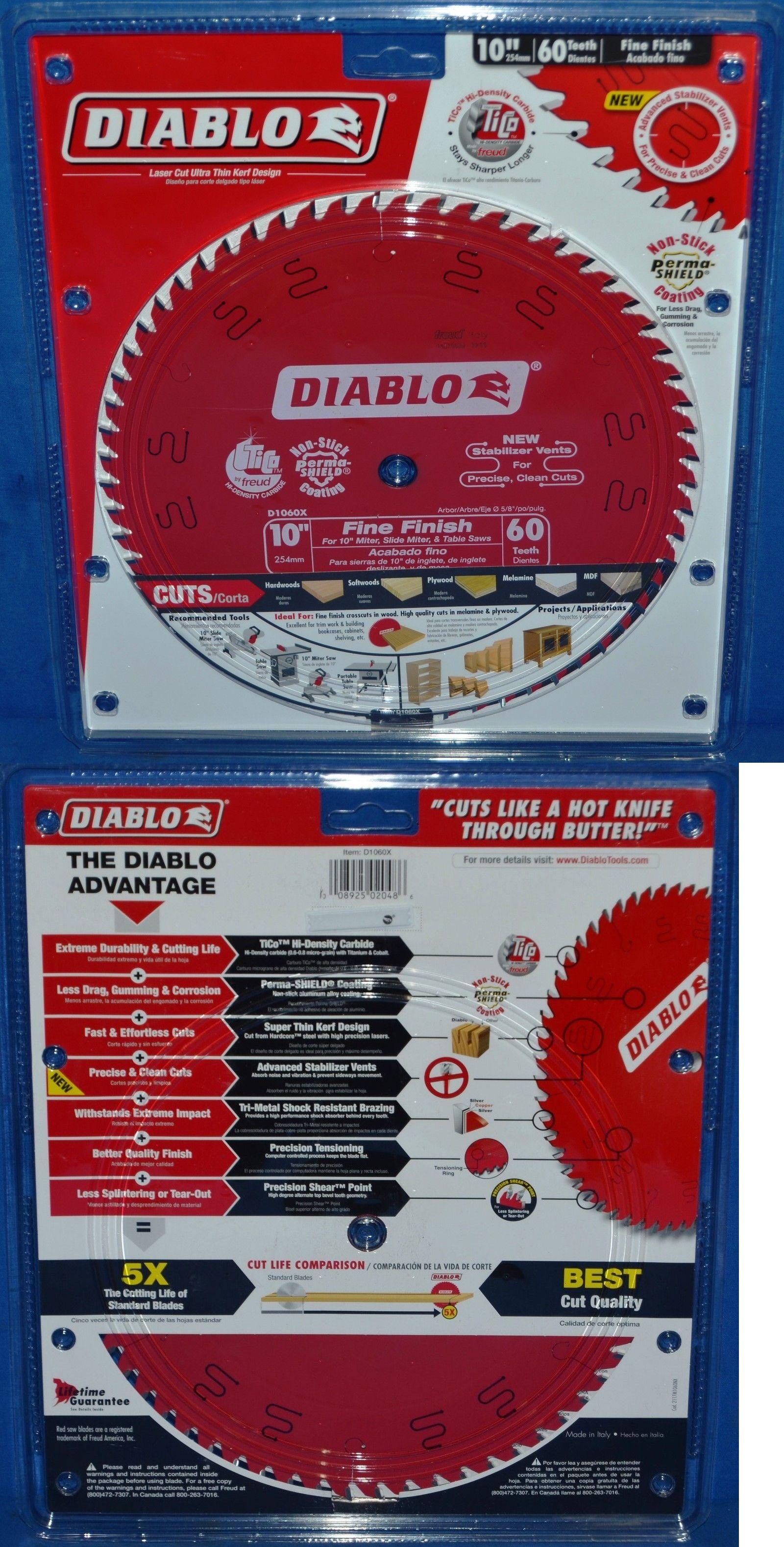 Saw Blades 122837: Diablo D1060x 10 90 Tpi Fine Finish Circular Saw
