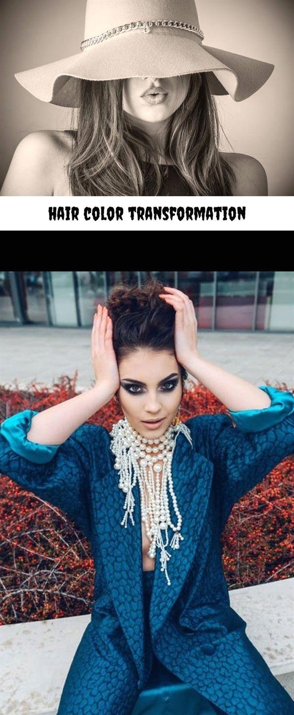 Hair color transformation human hair