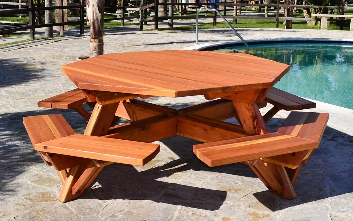 Large Octagon Picnic Table Plans Woodworking Pinterest Octagon - Composite octagon picnic table