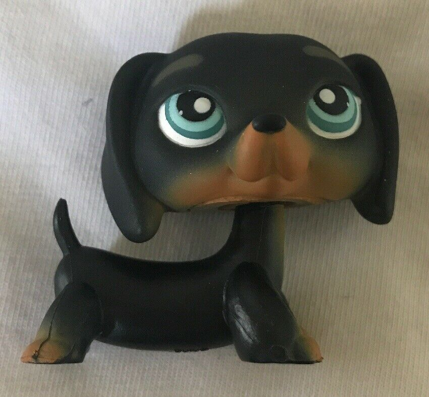 Littlest Pet Shop 325 Black Dachshund Puppy Dog Ct Ebay