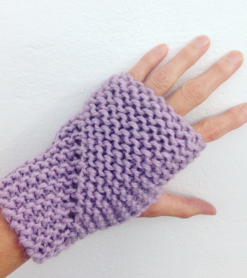 Free Knitting Pattern for Easy Hand Sleeves - These fingerless mitts ...