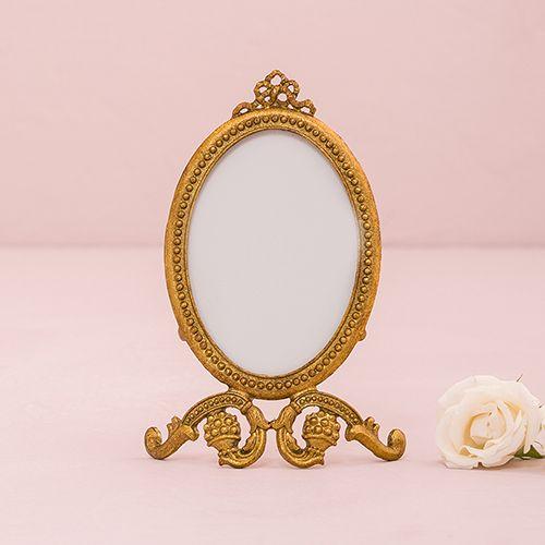 Small Oval Baroque Frame - Gold - CREATIVE BAG CO LTD   Wedding ...