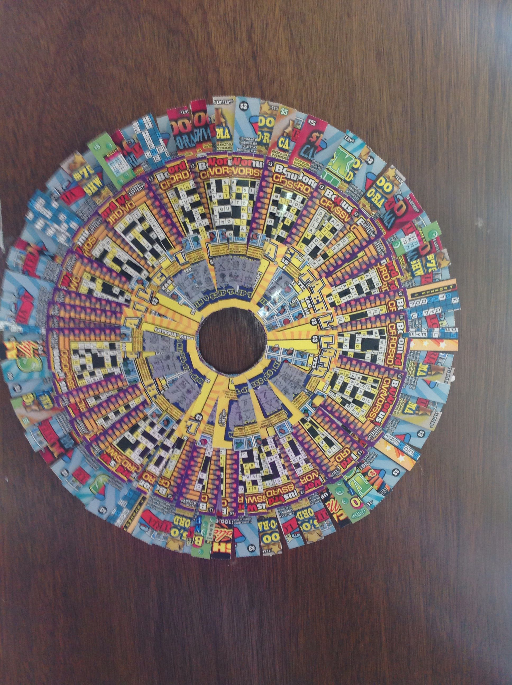 Scratch Off Ticket Wreath Scratch Tickets Displays