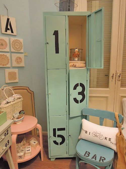 lockers | locker | Pinterest | Muebles de metal, Decoración chic ...