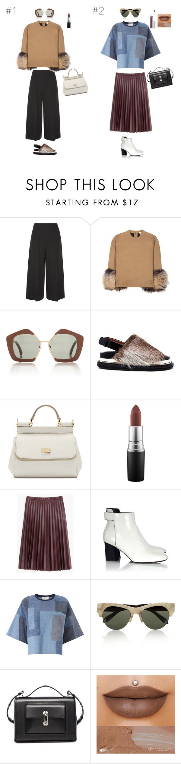 """'15 Fall/Winter Streetstyle Look"" by maries on Polyvore featuring Valentino, Michael Kors, Marni, Dolce&Gabbana, MAC Cosmetics, J.Crew, Proenza Schouler, 3.1 Phillip Lim, Victoria Beckham and Balenciaga"