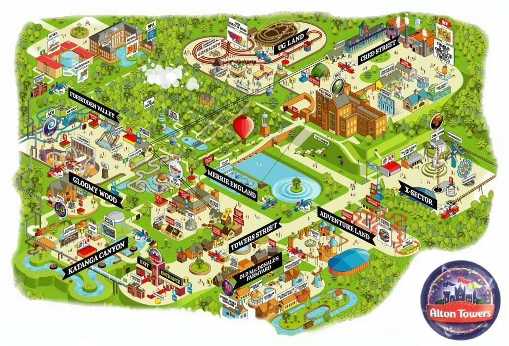 Atmap06 Jpg 1 030 700 Pixels Theme Park Map Map Park