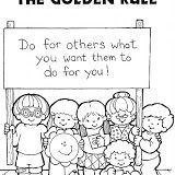 Teaching Preschoolers About Kindness Coloring Pages The2520Golden2520Rule 0001