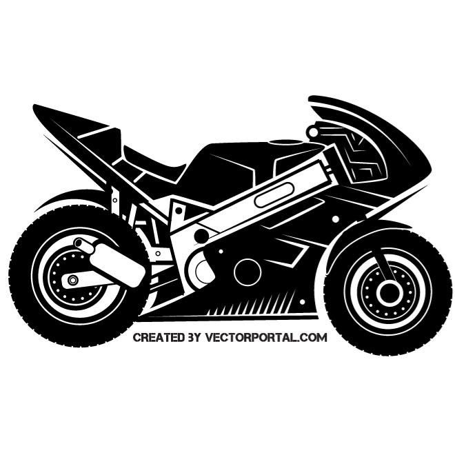 Sports Motorcycle Vector Image With Images Sport Motorcycle