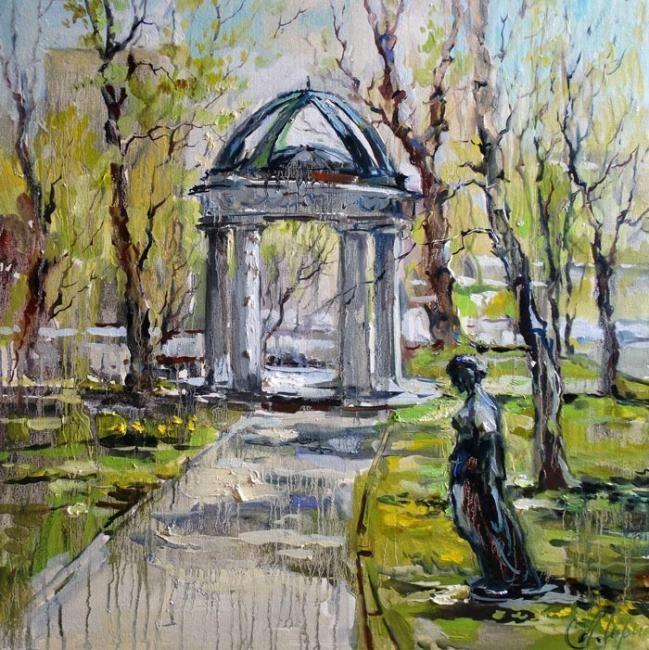 """Чарина Анна. Весна в парке (Усадьба """"Высокие горы"""" на Земляном Валу)"""