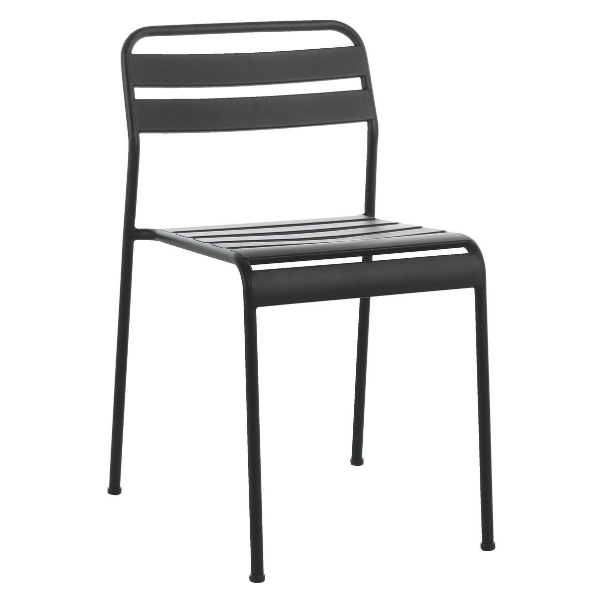 becklen black metal garden chair