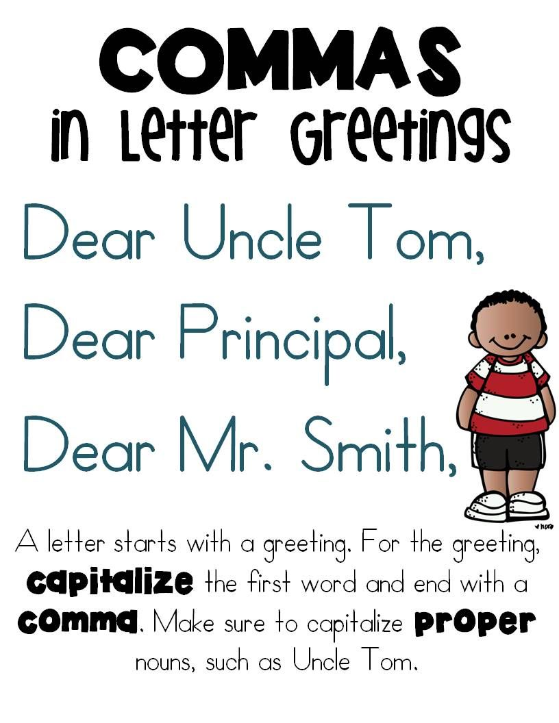 Commas In Greetings And Closings Of Letters    Friendly