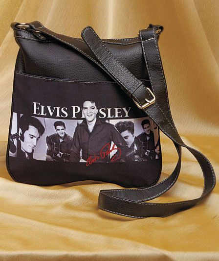Elvis Presley Cross Body Bag Purse Hands Free Shopping Running Errnds New #KingFeaturesSyndicateInc #MessengerCrossBody