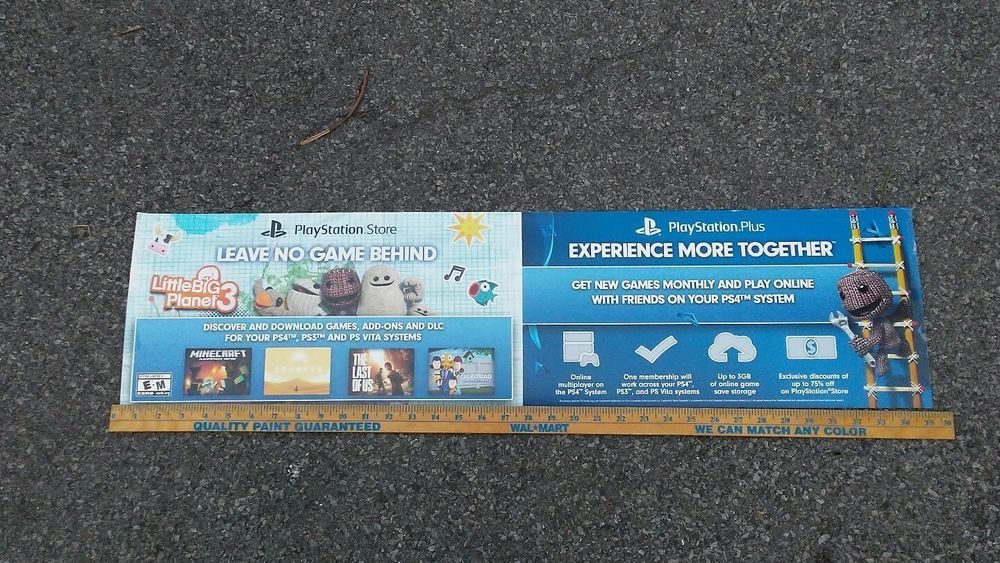 Toys R Us R Zone Playstation Store Sign Little Big Planet 3 Buying