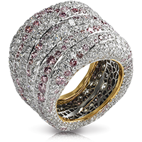 Passion Rose et Blanche Ring - Faberge
