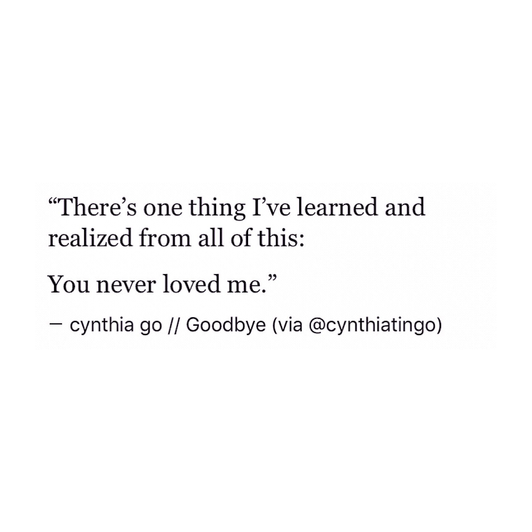 Goodbye Cynthia Go Prose Poetry Quotes Love Quotes