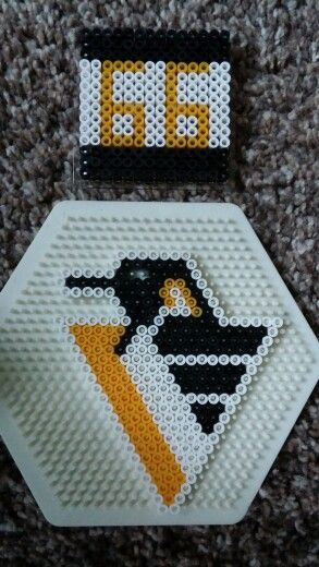 Vintage 95 Pittsburgh Penguins Logo And 66 Coaster