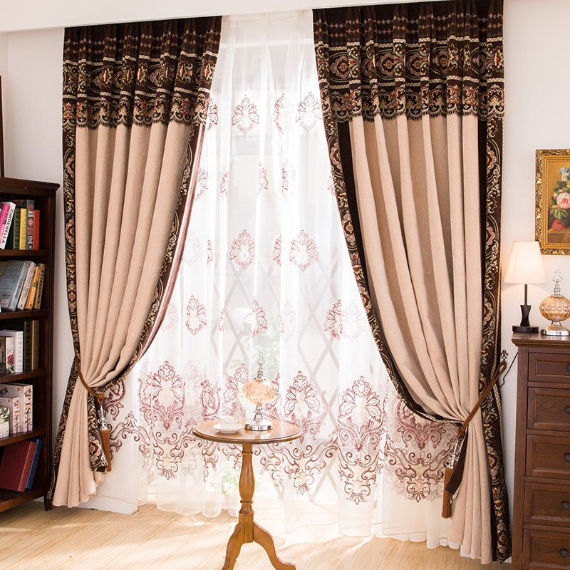 Luxury Curtains Free Shipping The Classical European Style Luxury Brilliant Luxury Curtains For Living Room 2018