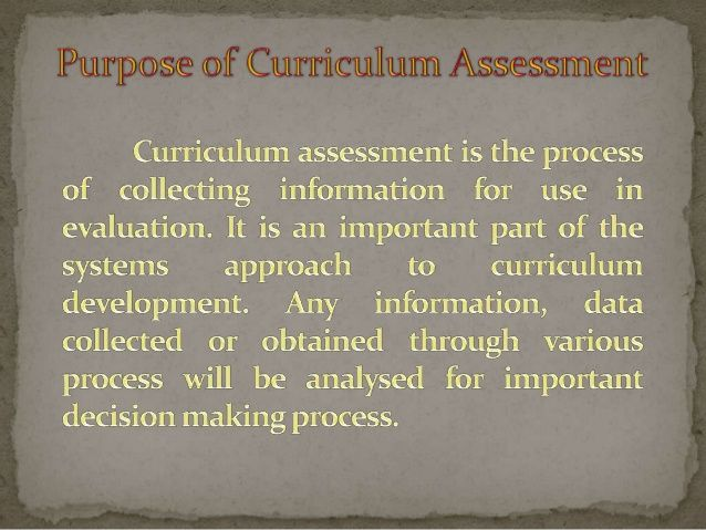 Each type of curriculum should be linked to one another. Any gap along the line…