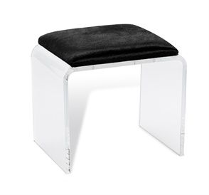 Enjoyable Mira Acrylic Stool Black Hide Janssen Furniture Bench Customarchery Wood Chair Design Ideas Customarcherynet