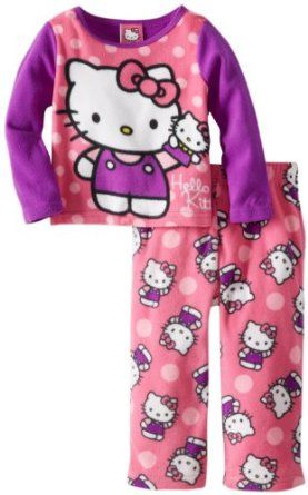 c2186f3b3 Hello Kitty Girls 2-6X 2 Piece Fleece Pajama Set