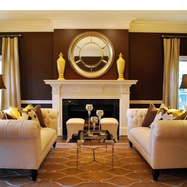 Such pretty color combo Brown and yellow #home #homedecor