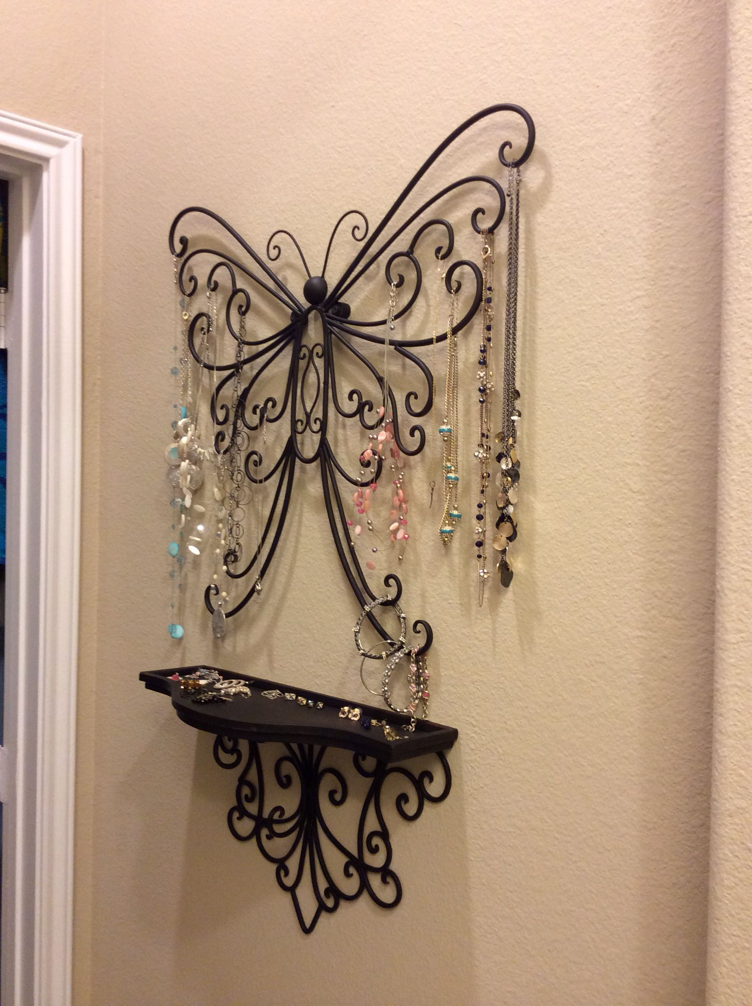 Wall art from hobby lobby and added some rubber spacers to ... on Hobby Lobby Wall Candle Sconces Wall Candle Holders id=65812