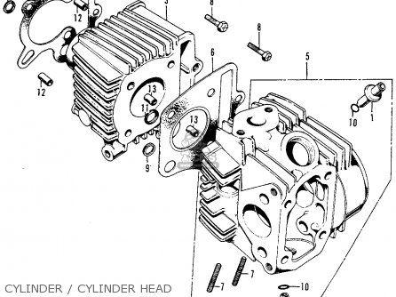 Honda Z50a Mini Trail K6 1975 Usa Cylinder Cylinder Head | Motorcycle engine,  Honda, CylinderPinterest