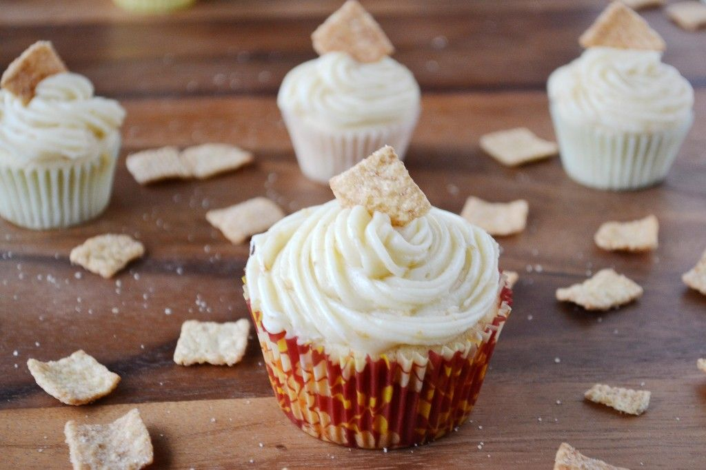 Cinnamon toast crunch cereal cupcakes with images