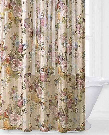 Cassandra fabric shower curtain jcpenney i like this one master bathroom pinterest