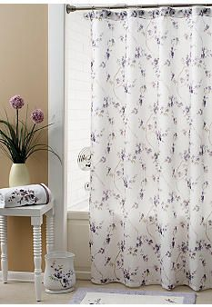 Croscill Pergola Collection Shower Curtain And Hooks Sold Separately Purple Shower Curtain Curtains House Styles