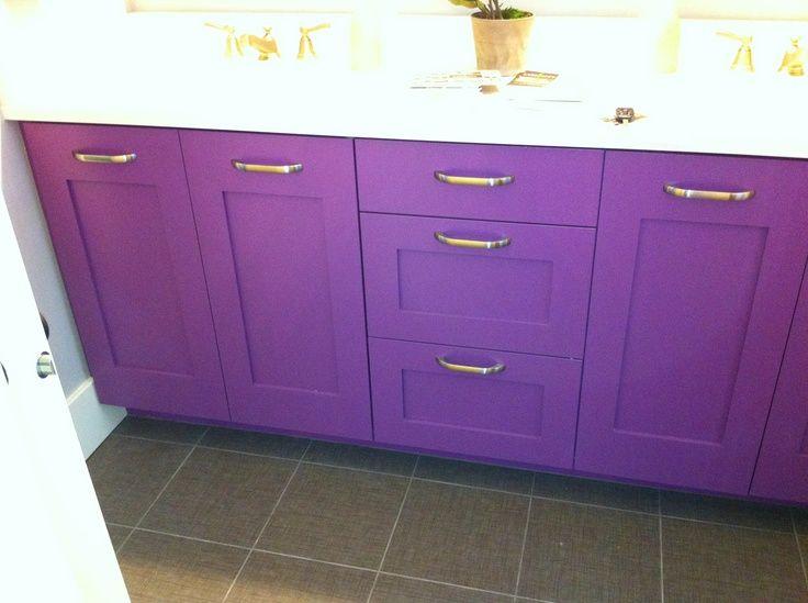 Purple Cabinets Purple Cabinet Girls Bathroom Purple Cabinets Girls Bathroom Room Wall Tiles