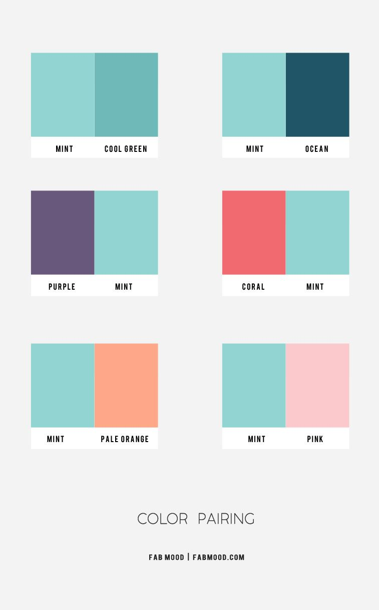 Color Combos : Mint Green Color Combos