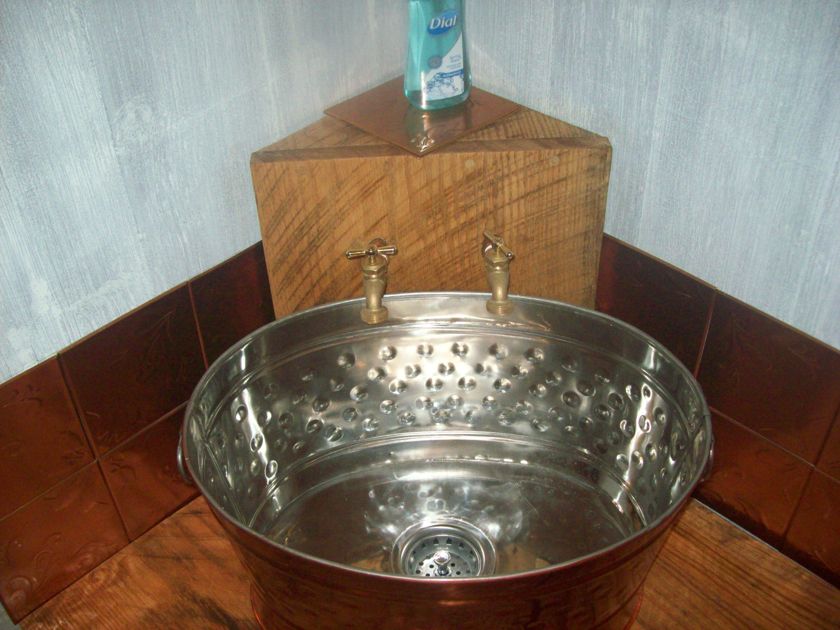 Copper planter used for my laundry rm sink typical
