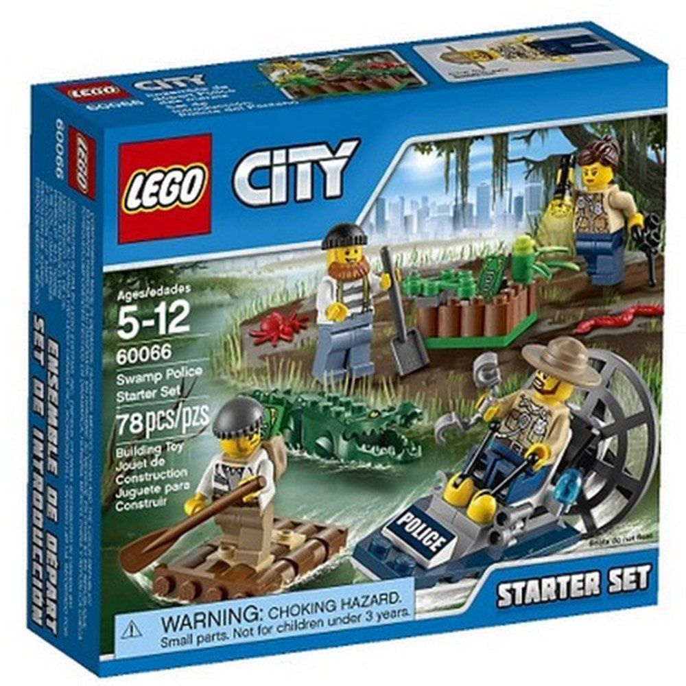 Pin lego 60032 city the lego summer wave in official images on - New Lego City Police Swamp Police Starter Set Kids Boys Toy Toys Free Shipping Lego
