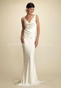 Satin sheath wedding dress   Color dress   Pinterest   Satin ...