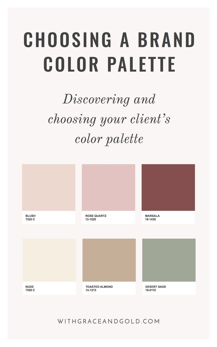 Brand Design Choosing A Color Palette With Grace And Gold Color Palette Brand Color Palette Palette