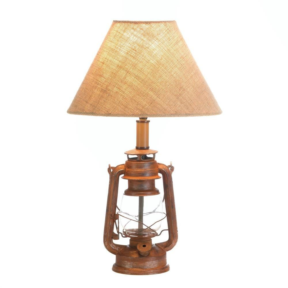 Table lamp vintage style - Vintage Camping Lantern Table Lamp