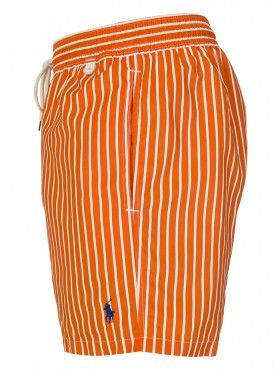 Polo Ralph Lauren Orange Striped Quick Dry Swim Shorts