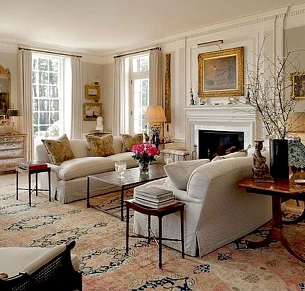 47 Lovely French Style Living Room Design And Decoration Idea