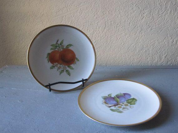 Hutschenreuther Selb 2 Fruit Salad Plates