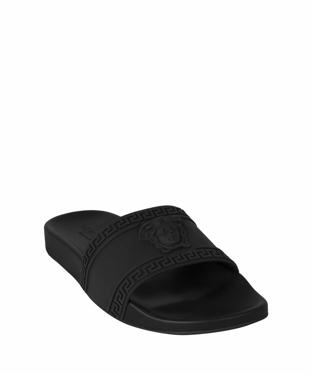 414f706d7663 VERSACE MEDUSA RUBBER SLIDES.  versace  shoes
