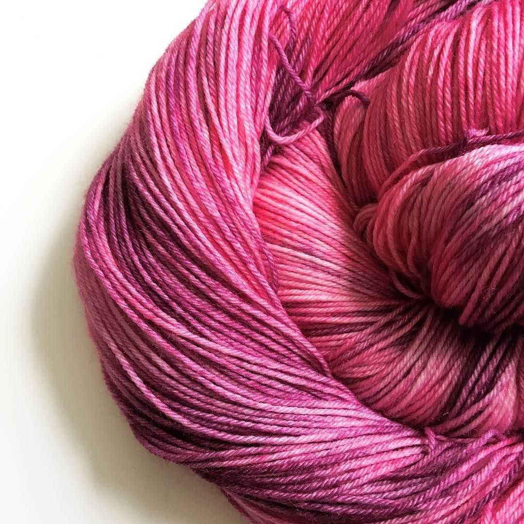 I've reached that tricky time of the month where I've taken photos of yarn club and am itching to show you but it hasn't arrived yet so I can't!! Until then we will just have to make do with this pretty pink yarn instead and lots of sitting on fingers!