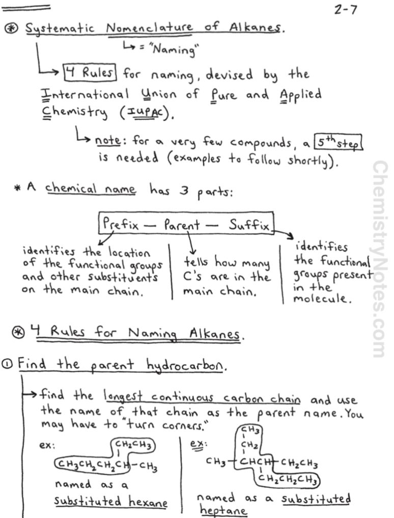 Naming Alkanes In Organic Chemistry In 2020 Chemistry Lecture Organic Chemistry Notes Chemistry Notes