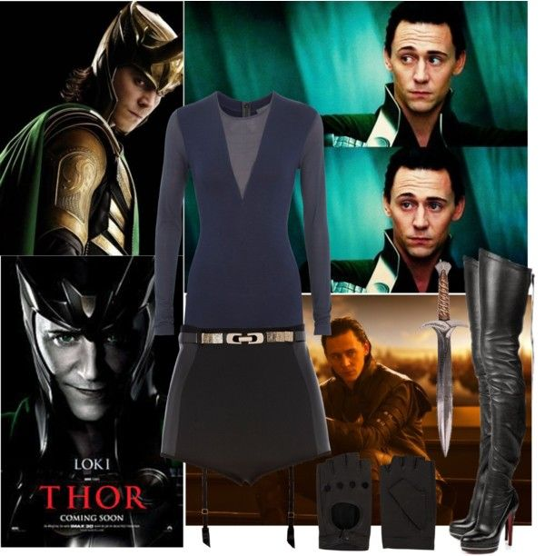 """LOKI'S SUPERHEROINE GIRL!!!"" by alrightythen ❤ liked on Polyvore"