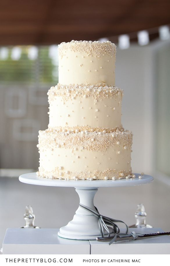 Lance Lydia Modern Romance Wedding Cake Pearls Beautiful