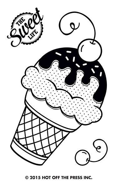 Ice Cream Cone Small Stamps by Hot Off The Press Inc (1180