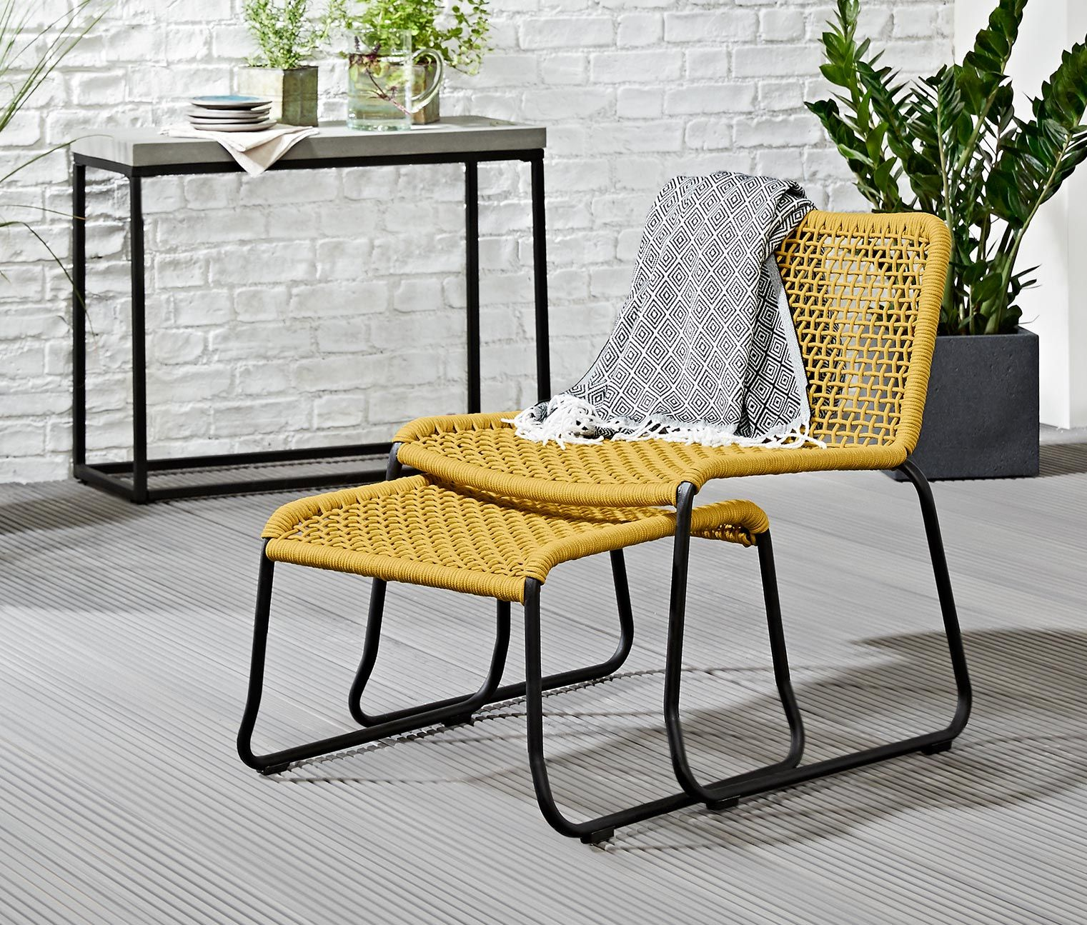 Tchibo Loungemöbel Lounge Sessel Mit Fußteil Garten Garden Outdoor Chairs Lounge