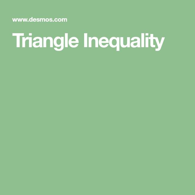 7th Grade Triangle Inequality Theorem Triangle Inequality Inequality 8th Grade Math