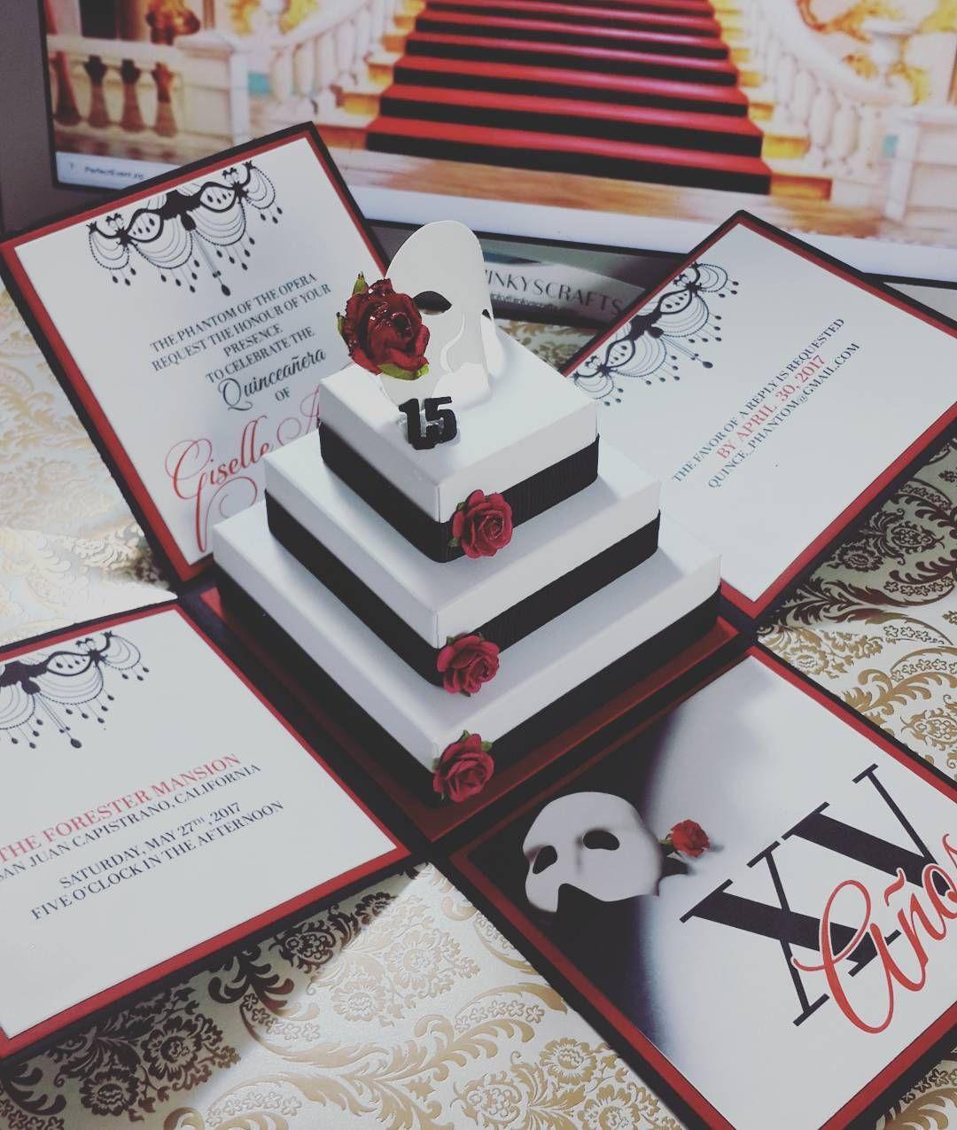 phantom of the opera invitations unique quinceanera invitations